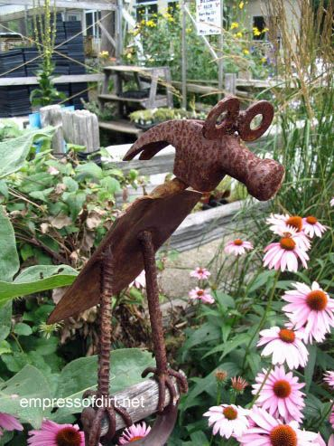 Garden art made from old tools empress of dirt for Recycled garden art ideas