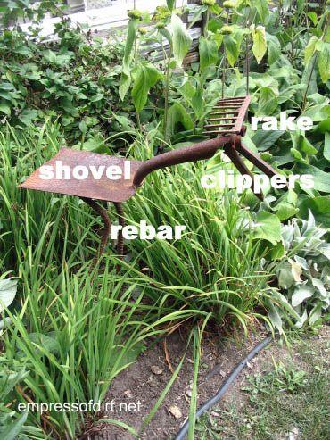 Garden junk tool art creatures