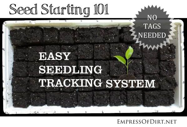 Seed Starting 101 Easy Seedling Tracking System