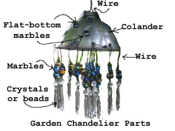 How to Make a Garden Art Chandelier Empress of Dirt