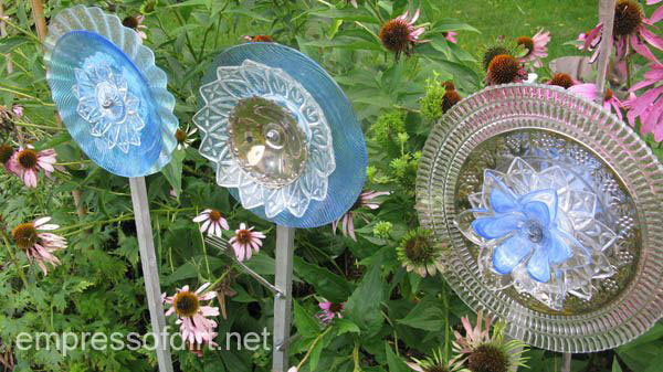 How To Make Garden Art Flowers From Dishes Empress Of Dirt