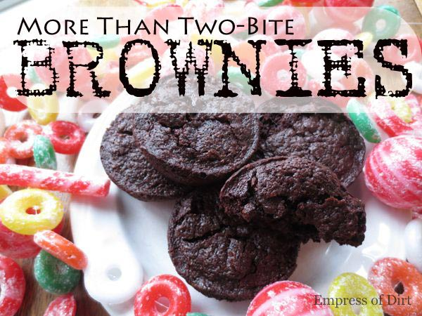 Best more than two-bite brownie recipe