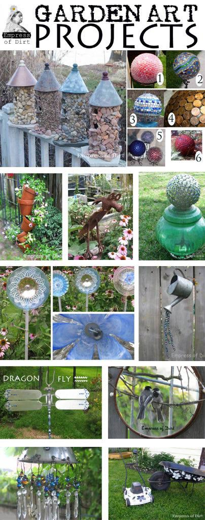 Best garden art projects - with free instructions at www.empressofdirt.net