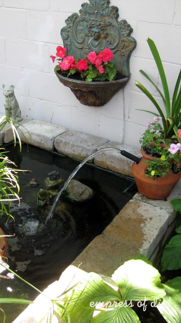 planter pond fountain