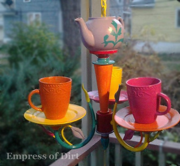 Make a teacup chandelier