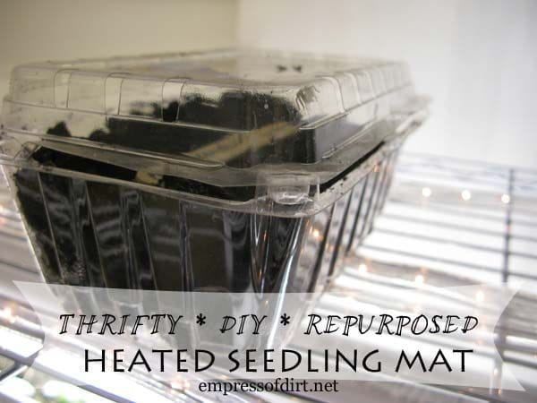 Thrifty DIY Repurposed Heated Seedling Mat