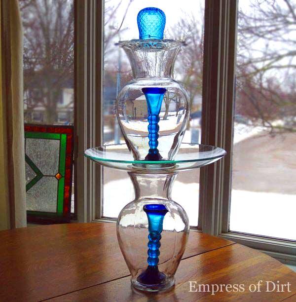 How to make a glass garden art totem