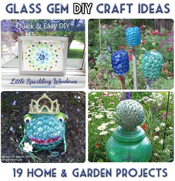 Glass Gem Garden Art Craft Ideas 19 Projects Empress