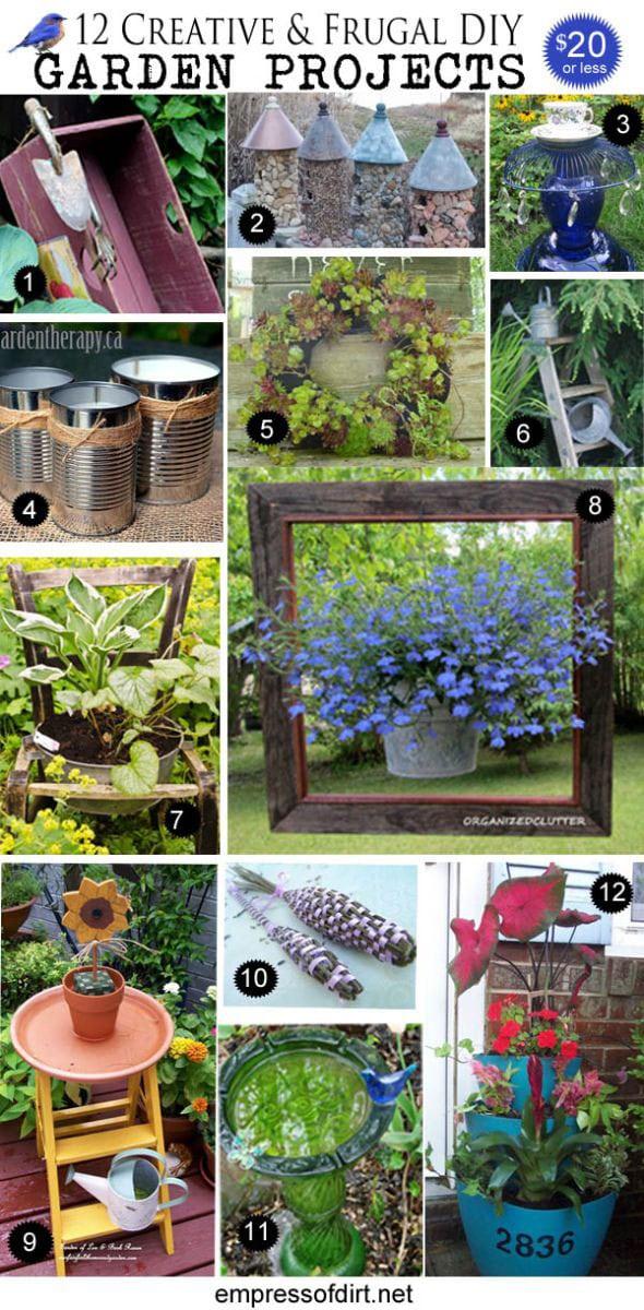 Creative garden art projects under  20. 12 Creative and Frugal DIY Garden Projects Under  20   Empress of Dirt