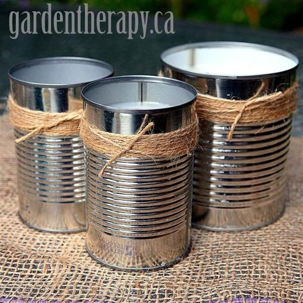Creative and Frugal DIY Garden Art Projects: Make your own citronella candles and keep the mosquitoes away