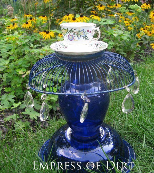 12 Creative and Frugal Garden Art Projects Under  20   Teacup Totem. 12 Creative and Frugal DIY Garden Projects Under  20   Empress of Dirt