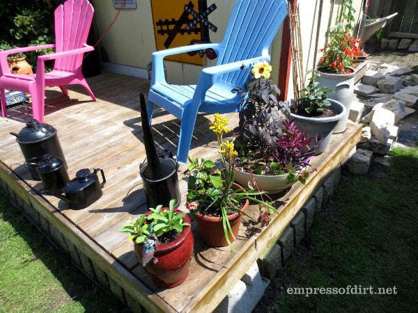 Shed Deck with Potted Plants