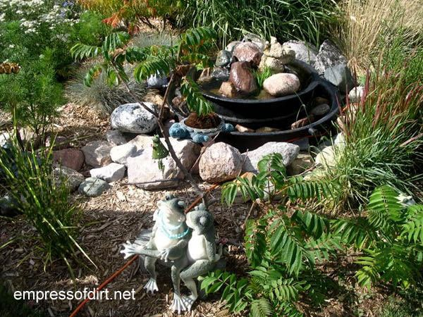 30 Garden container ideas | Tiered water feature