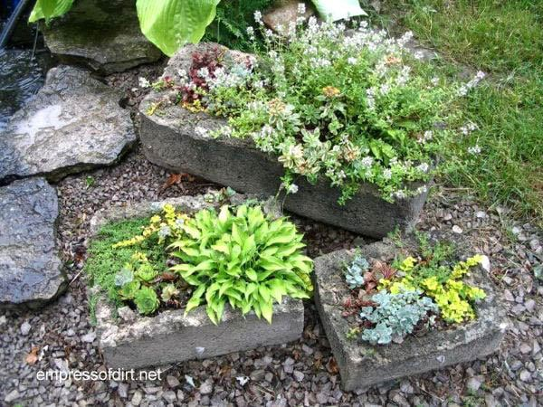 30 Garden Container Ideas | Hypertufa Containers