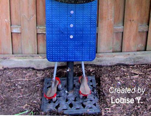 Ironing Board Woman Garden Art Project