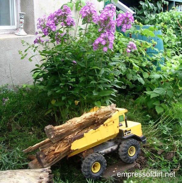 30 Garden container ideas | Toy truck planter
