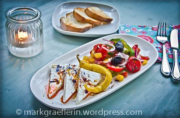 Great party ideas: Grilled veggies, fresh cheese, bread via http://markgraeflerin.wordpress.com/
