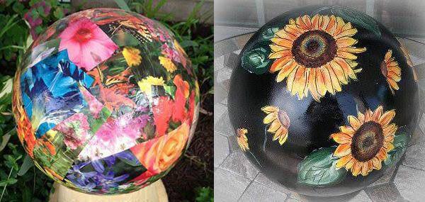 Gallery Of Creative Garden Art Balls With Tutorials | Decoupage Garden Balls