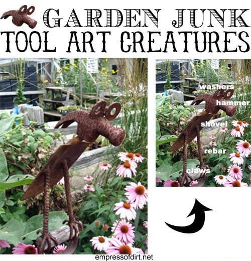 How to maker garden art from old tools at empressofdirt.net