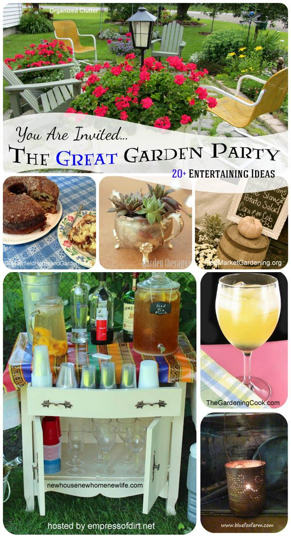 The great garden party: 20+ entertaining ideas at.www.empressofdirt.net/gardenparty