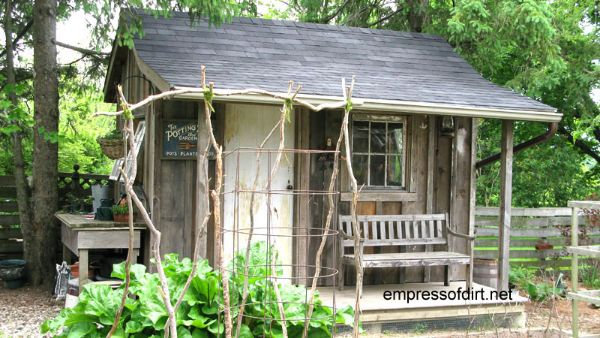 Charming garden sheds from rustic to modern empress of dirt for Very small garden sheds