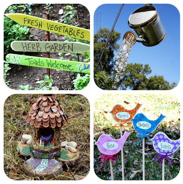 DIY Garden Art Projects by http://craftsbyamanda.com/