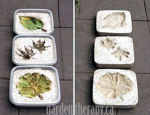 Make concrete planters by http://gardentherapy.ca/