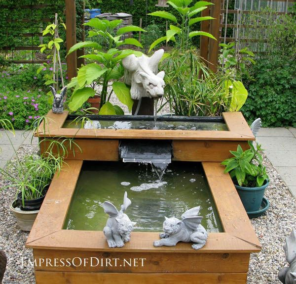 16 more creative garden container ideas empress of dirt for Square pond ideas