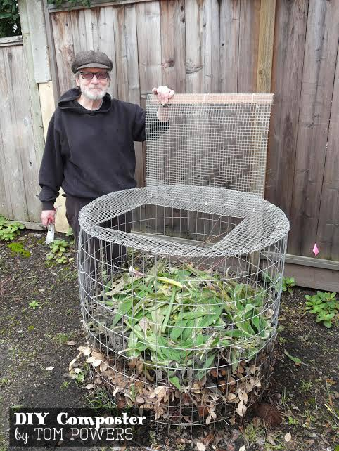 diy compost bin made from hardware cloth by tom powers
