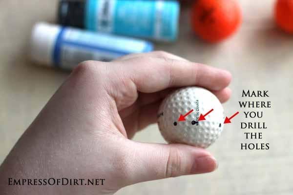 Golfball Craft Ideas