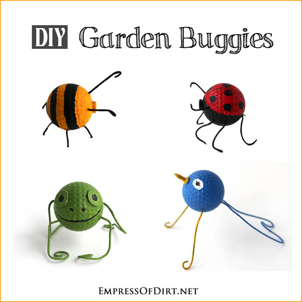 Make garden buggies from old golf balls