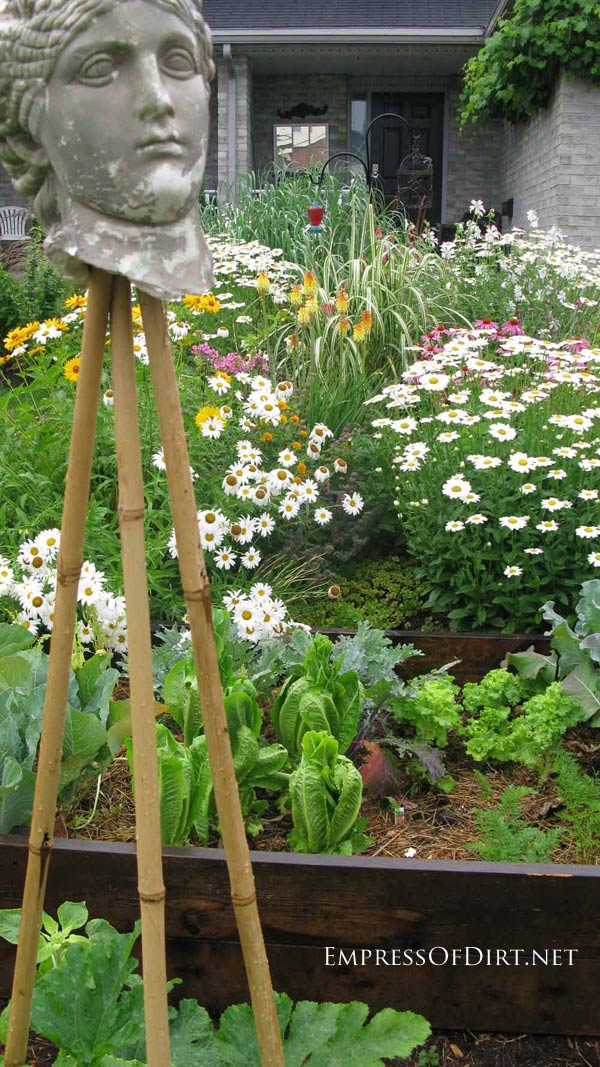 20+ Ideas for your home veggie garden - raised beds on a sloped yard