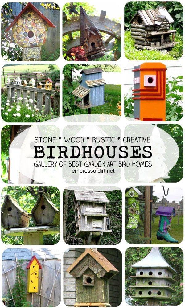 Gallery of Best Garden Art BirdHouses