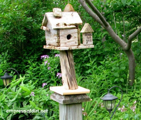 Rustic Birdhouse from the Gallery of Creative Birdhouse Ideas at empressofdirt.net